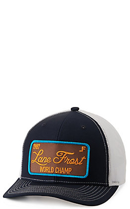 Lane Frost Classic Navy and White with World Champ Patch Cap