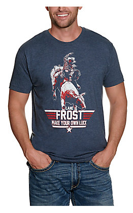 Lane Frost Men's Navy Graphic T-shirt
