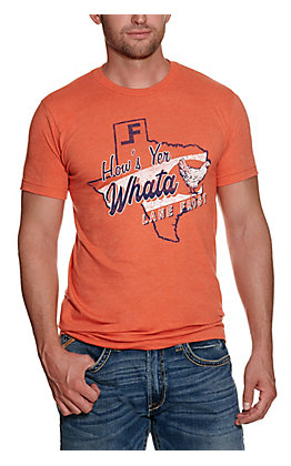 Lane Frost Men's Orange Graphic T-shirt
