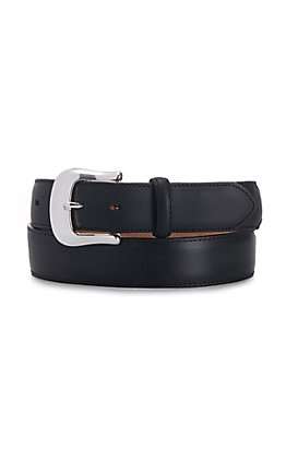 Tony Lama Black Longhorn Belt  With Billets