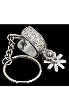 Silver Creek Fancy Silver Spur Keychain