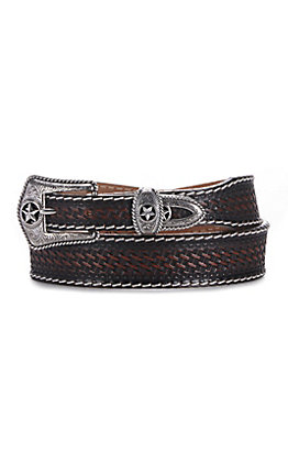 Justin 1 3/8''-1'' Lone Star Hand Tooled Belt
