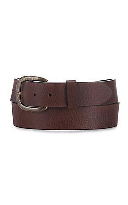 Justin Dark Brown Basic Work Belt