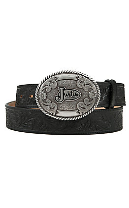 Justin Men's Black Trophy Tool Western Belt LGN242BK