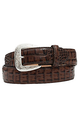 Tony Lama Men's Chocolate Caiman Print Belt