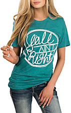 Women's Teal Y'all Aint Right S/S T-Shirt