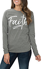 Women's Grey Faith L/S T-Shirt
