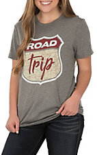 Light Heart Grey Road Trip Mat S/S T-Shirt