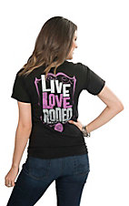 Southern Moonshine Women's Live Love Rodeo Screen Print Short Sleeve T-Shirt