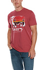 Lazy J Ranchwear Red Sunrise Cow Graphic S/S T-Shirt