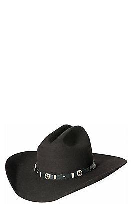 Cavender's 3X Oplin Black Premium Wool Cowboy Hat