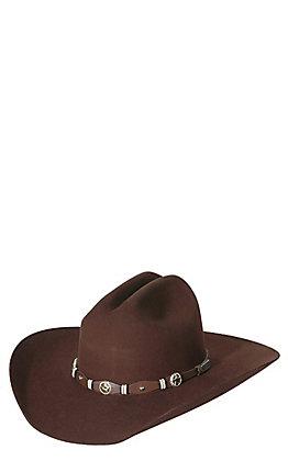 Cavender's 3X Oplin Chocolate Premium Wool Cowboy Hat