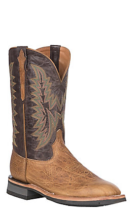 Lucchese Men's Tan Cowhide Rudy Square Toe Western Barn Boot