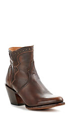 Lucchese Women's Maple Brown Studded Round Toe Bootie