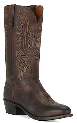 Lucchese 1883 Men's Chocolate Burnish Mad Dog Goat R-Toe Western Boots