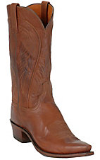 Lucchese 1883 Men's Tan Brown Ranch Hand Snip Toe Western Boots