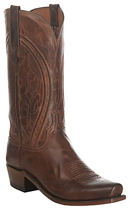 Lucchese 1883 Men's Antique Peanut Brittle Mad Dog Goat Punchy 7-Toe Western Boots