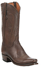 Lucchese 1883 Men's Burnished Antique Brown Western Snip Toe Boots