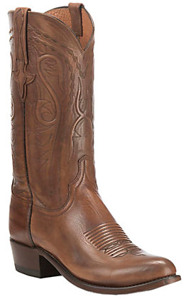 Lucchese 1883 Men's Burnished Antique Whiskey Western Snip Toe Boots