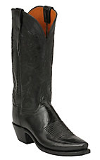 Lucchese 1883 Ladies Black Calf Snip Toe Western Boots