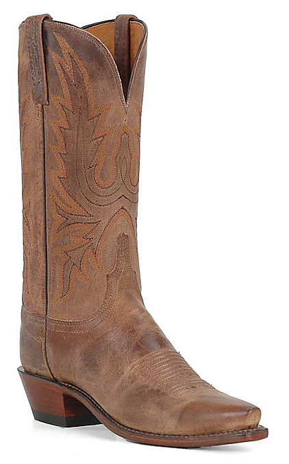 25b0e6a6b00 Lucchese 1883 Women's Tan Mad Dog Snip Toe Western Boots