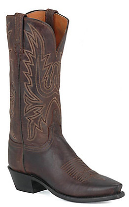 Lucchese 1883 Ladies Chocolate Mad Dog Snip Toe Western Boots