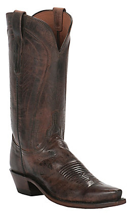 Lucchese Women's 1883 Antique Peanut Brittle Calf Snip Toe Western Boots