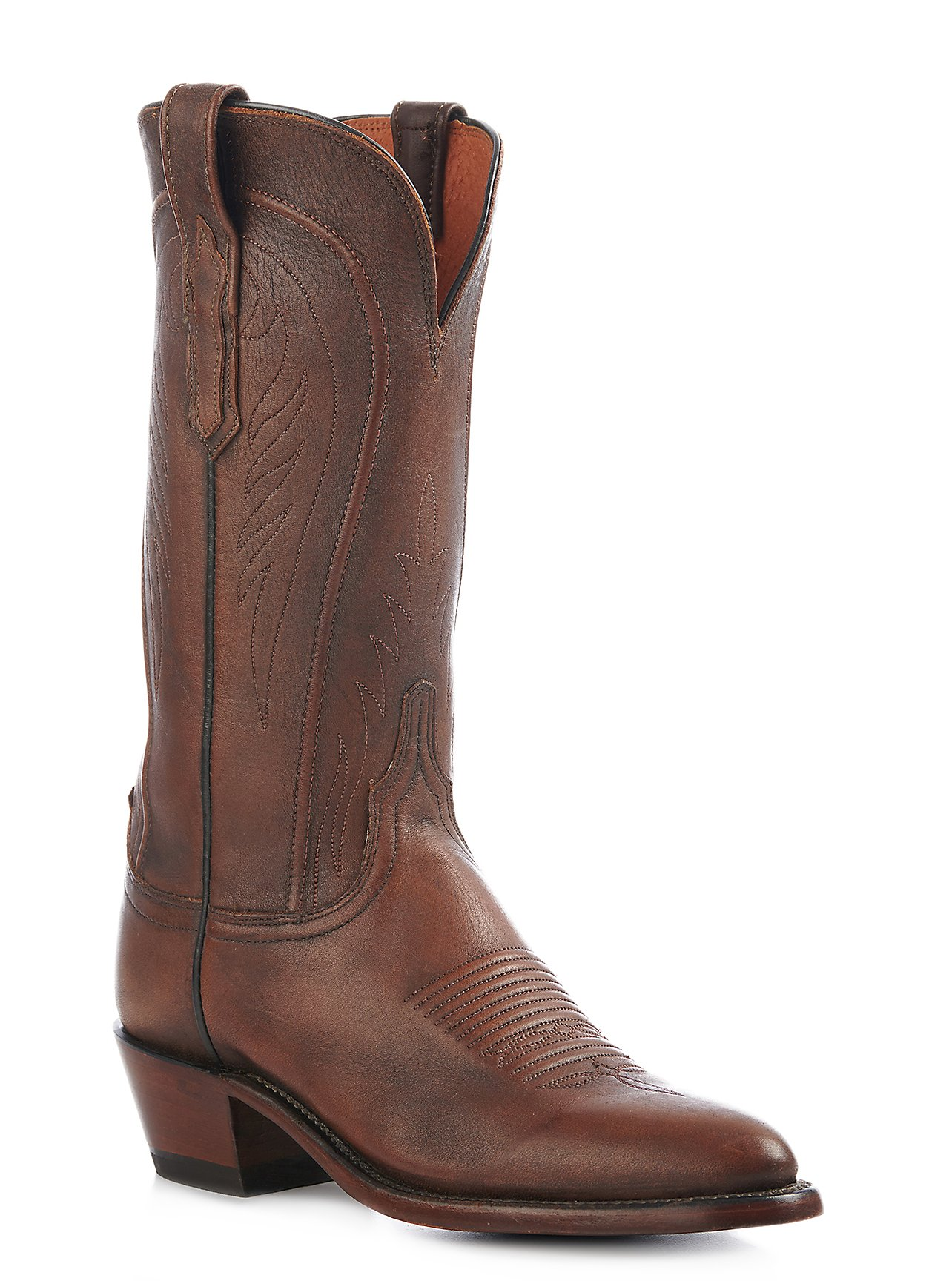 Lucchese 1883 Women s Antique Peanut Brittle Mad Dog Goat Traditional R-Toe  Western Boots f0cb951b57