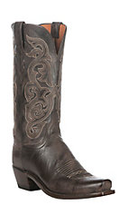 Lucchese 1883 Women's Dark Brown Goat Narrow Punchy 7-Toe Western Boots