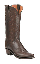 Lucchese 1883 Women's Burnished Antique Brown  Western Snip Toe Boots