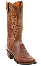Lucchese 1883 Men's Peanut Mad Dog Snip Toe Western Boots
