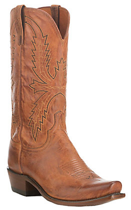 Lucchese Men's 1883 Peanut Brittle Tan Burnished 7-Toe Western Boots