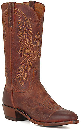 Lucchese Men's 1883 Peanut Brown Mad Dog R-Toe Western Boots