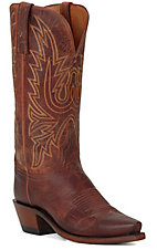 Lucchese 1883 Ladies Peanut Mad Dog Snip Toe Western Boots