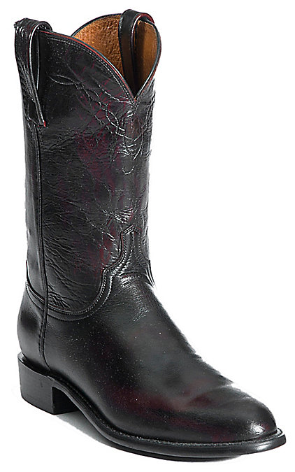 b77404f021c Lucchese 1883 Men's Black Cherry Buffalo Roper Boot