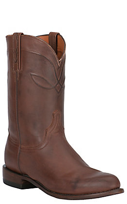 Lucchese Men's 1883 Tan Burnished Ranch Hand Roper Boot
