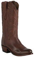 Lucchese 1883 Men's Tan Burnished R-Toe Ranch Hand Western Boots