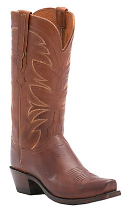 Lucchese 1883 Women's Cognac Ranch Hand 7-Toe Narrow Punchy Toe Western Boots