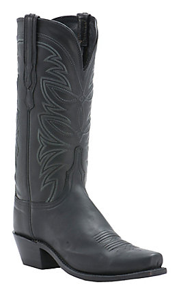 Lucchese 1883 Women's Black Ranch Hand 7-Toe Narrow Punchy Toe Western Boots