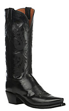 Lucchese 1883 Women's Black Goat Snip Toe Western Boots