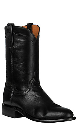 Lucchese Men's Black Goat Roper Boot