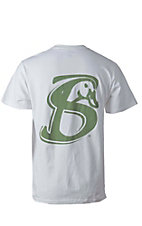 Stackin Bills Men's White with Olive Logo S/S Tee