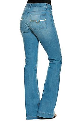 Kimes Ranch Women's Lola Soho Medium Wash Trouser Cut Flare Jeans