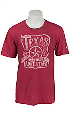 Mason Jar Label Men's Red Texas Lone Star Short Sleeve T-Shirt