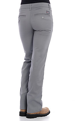 Lapco Women's Grey CAT 2 FR Boot Cut Uniform Pants