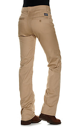 Lapco Women's Khaki CAT 2 FR Boot Cut Uniform Pants