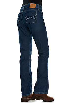 Lapco Women's Dark Wash CAT 2 FR Boot Cut Jeans