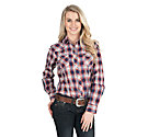 Cowgirl Legend Women S Pink And Blue Plaid Long Sleeve