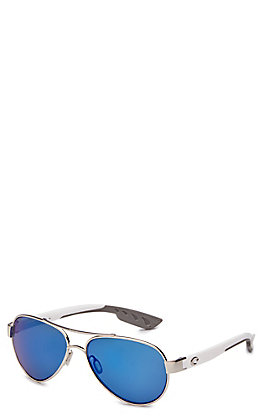 Costa Loreto Blue Mirror Palladium Sunglasses