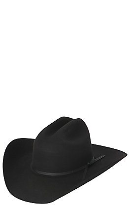 Rodeo King 5X Low Rodeo Black Felt Cowboy Hat